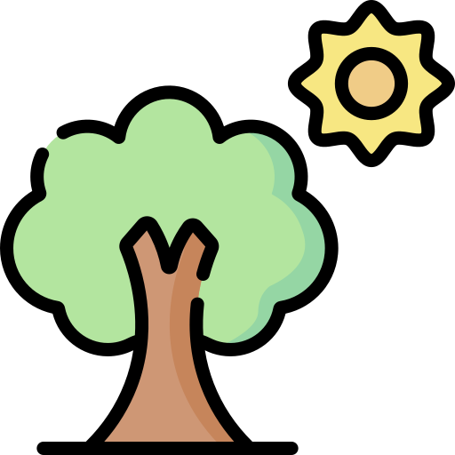 tree and sun icon